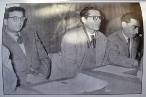 من اليسار إلى اليمين: الطيب بن بوعزة- صالح المسكيني – محمد الصديق