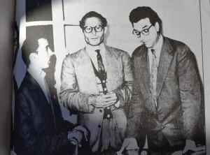 من اليمين الى اليسار: الطيب بن بوعزة – صالح المسكيني – محمد الصديق