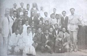 بعد مؤتمر تأسيس الاتحاد المغربي للشغل، الطيب الاول يمينا