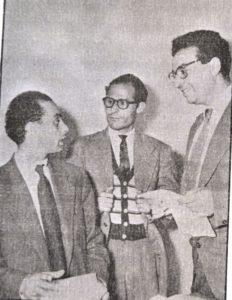 من اليمين الى اليسار: الطيب بن بوعزة – صالح المسكيني – المحجوب بن الصديق