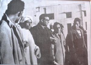 المكتب النقابي لعمال مناجم جرادة ، حيث نرى  الكاتب المحلي  ميمون عايدة مع الطيب بن بوعزة