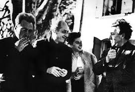 من اليسار: فكتور سيرج ، بنجاما بيريه، رميديوس، اندريه بروتون في مارسيليا متم العام 1940